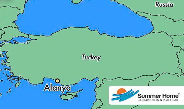 Alanya Stadskarta Karta Over Den Vackra Semesterorten Alanya