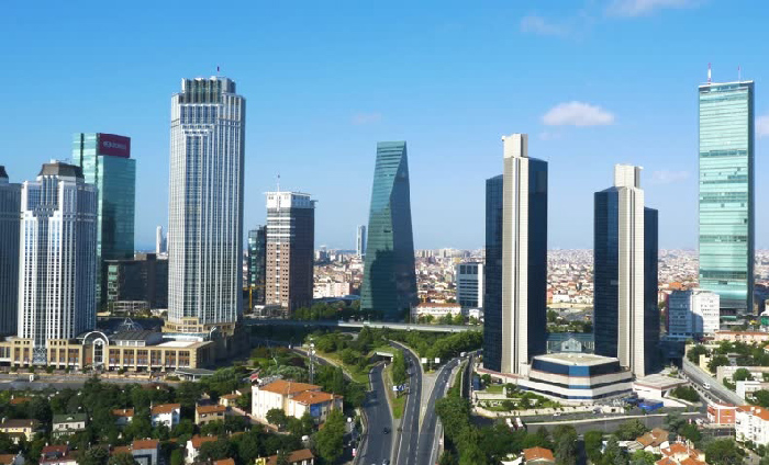 Levent district in Istanbul
