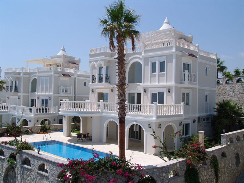 A villa with a pool