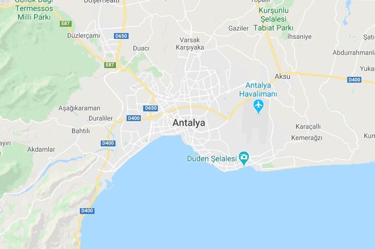 Antalya on the map