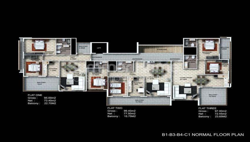 阿拉尼亚/卡吉科克的美景公寓,位于托罗斯山上 plan - 1