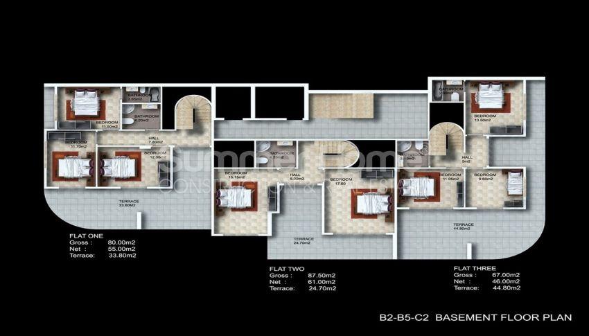 阿拉尼亚/卡吉科克的美景公寓,位于托罗斯山上 plan - 2
