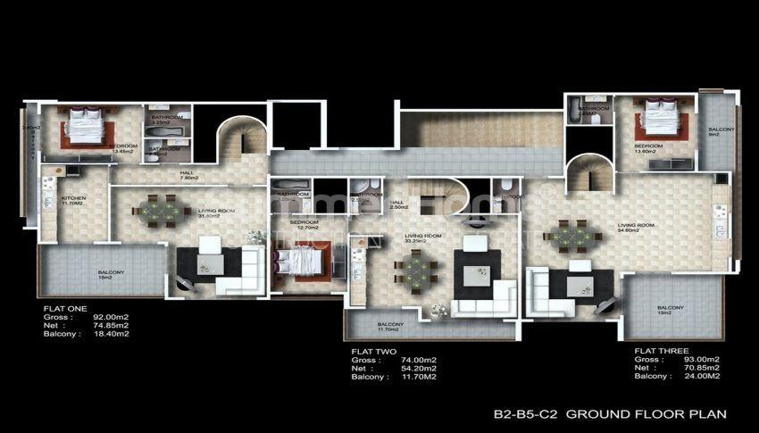 阿拉尼亚/卡吉科克的美景公寓,位于托罗斯山上 plan - 3