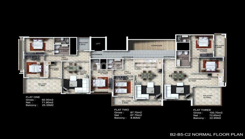 阿拉尼亚/卡吉科克的美景公寓,位于托罗斯山上 plan - 4