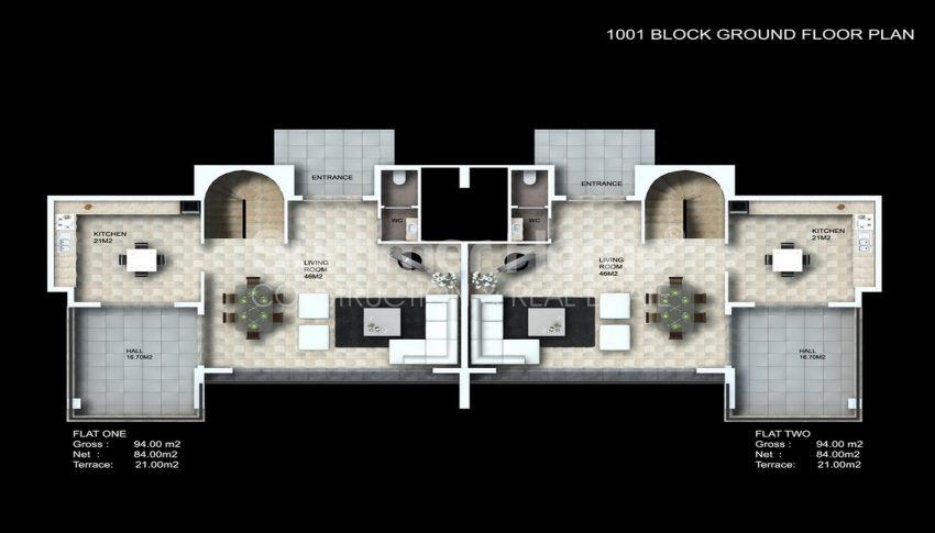 阿拉尼亚/卡吉科克的美景公寓,位于托罗斯山上 plan - 6