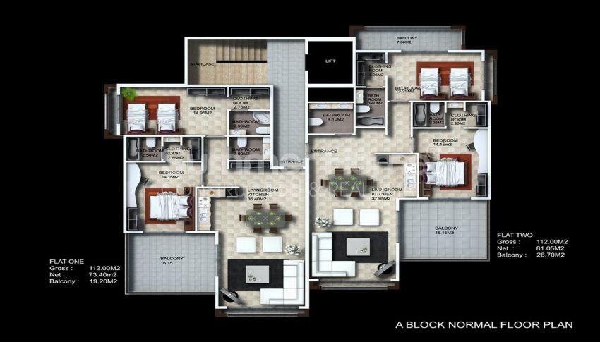 阿拉尼亚/卡吉科克的美景公寓,位于托罗斯山上 plan - 7