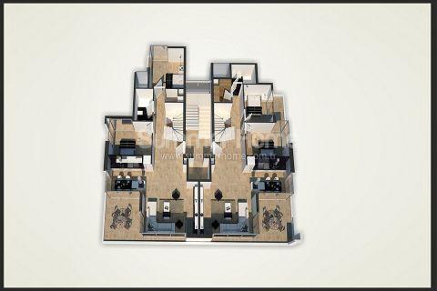 Unikátne apartmány na predaj v Alanyi - Plány nehnuteľností - 44