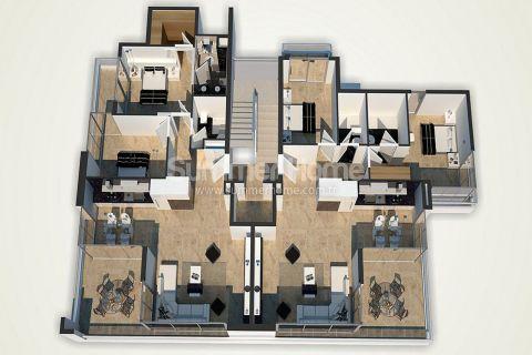 Unikátne apartmány na predaj v Alanyi - Plány nehnuteľností - 49