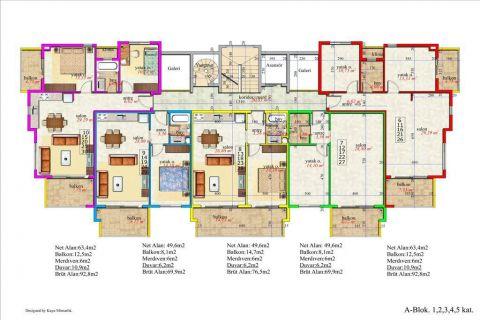 Meerblick Wohnung 1+1 in Orion Garden IV  - Immobilienplaene - 39