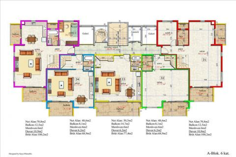 Meerblick Wohnung 1+1 in Orion Garden IV  - Immobilienplaene - 40