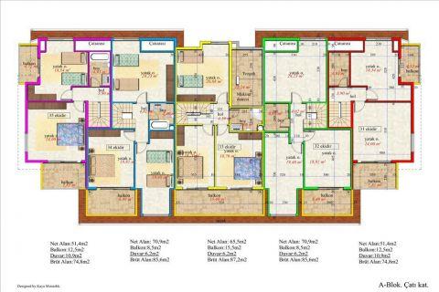 Meerblick Wohnung 1+1 in Orion Garden IV  - Immobilienplaene - 41