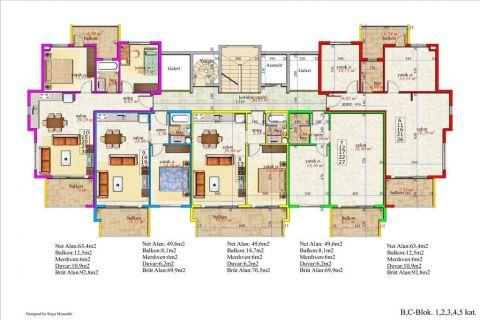 Meerblick Wohnung 1+1 in Orion Garden IV  - Immobilienplaene - 43