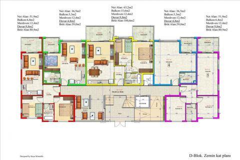 Meerblick Wohnung 1+1 in Orion Garden IV  - Immobilienplaene - 45