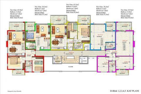 Meerblick Wohnung 1+1 in Orion Garden IV  - Immobilienplaene - 46