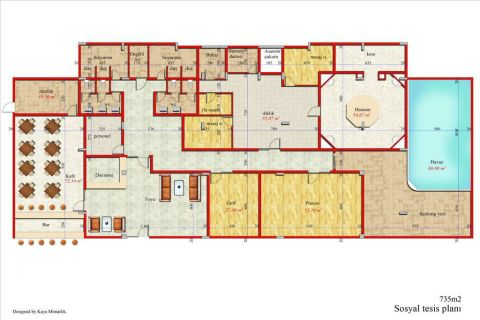 Meerblick Wohnung 1+1 in Orion Garden IV  - Immobilienplaene - 48