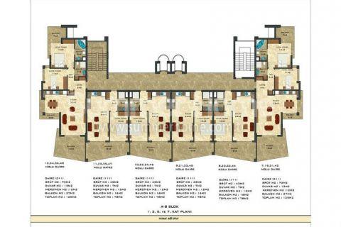 2-комнатная квартира с панорамным видом - Планировка  - 45