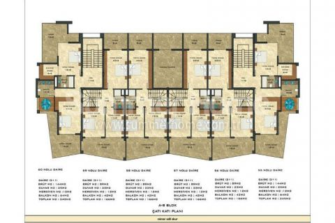2-комнатная квартира с панорамным видом - Планировка  - 47