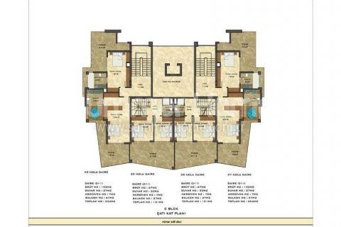 2-комнатная квартира с панорамным видом - Планировка  - 52