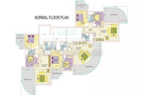 Zaujímavé apartmány v Alanyi - Plány nehnuteľností - 30