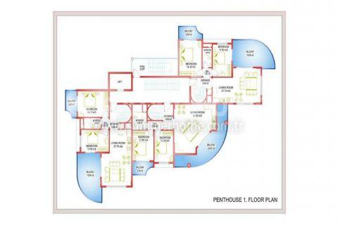 Zaujímavé apartmány v Alanyi - Plány nehnuteľností - 31