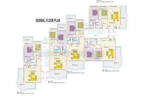 Apartmány s dobrými cenami v Alanyi - Plány nehnuteľností - 21