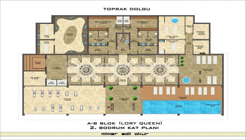 مجمع سكني فاخر مع بتصميم عصري في كستل، الانيا plan - 1