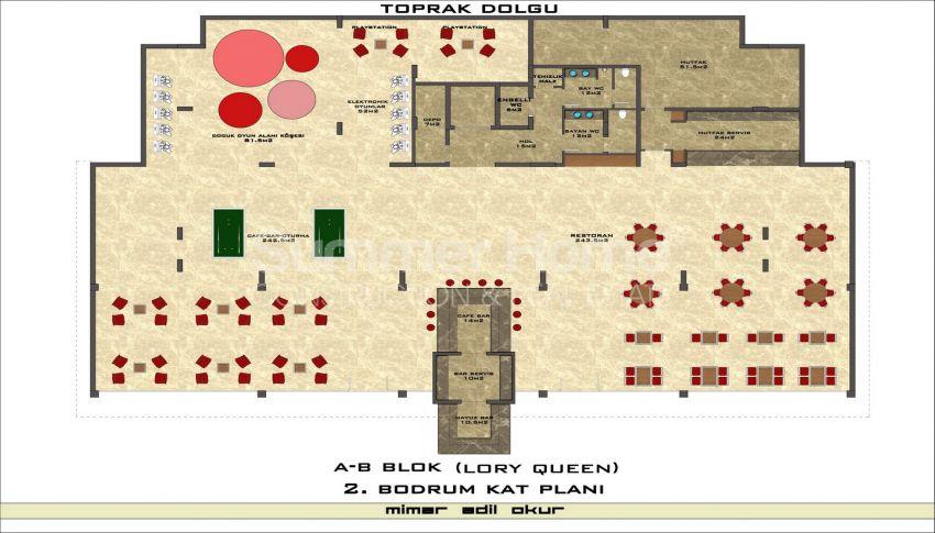 مجمع سكني فاخر مع بتصميم عصري في كستل، الانيا plan - 2