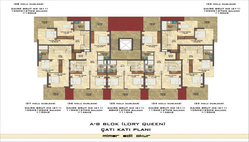 مجمع سكني فاخر مع بتصميم عصري في كستل، الانيا plan - 3