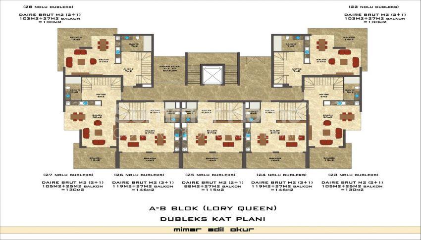 مجمع سكني فاخر مع بتصميم عصري في كستل، الانيا plan - 4