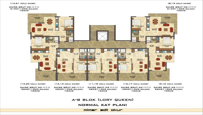 مجمع سكني فاخر مع بتصميم عصري في كستل، الانيا plan - 5