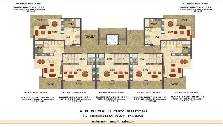 مجمع سكني فاخر مع بتصميم عصري في كستل، الانيا plan - 7