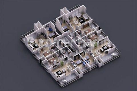Rodinné apartmány v Alanyi - Plány nehnuteľností - 11