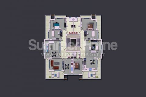 Rodinné apartmány v Alanyi - Plány nehnuteľností - 14