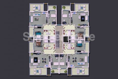 Rodinné apartmány v Alanyi - Plány nehnuteľností - 17