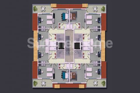Rodinné apartmány v Alanyi - Plány nehnuteľností - 18