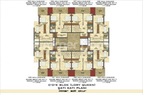 3-Bedroom Duplex Apartment in Lory Queen in Alanya - Property Plans - 79
