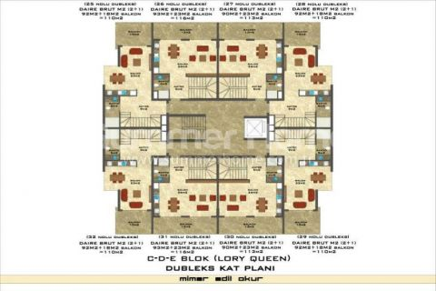 3-Bedroom Duplex Apartment in Lory Queen in Alanya - Property Plans - 80