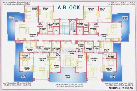 Large Apartments for Sale in Alanya - Property Plans - 13