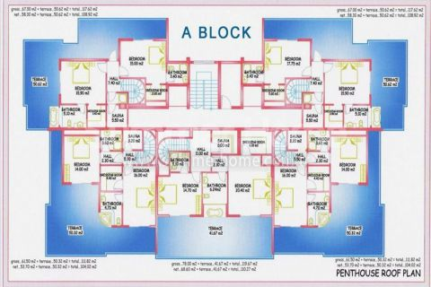 Large Apartments for Sale in Alanya - Property Plans - 15