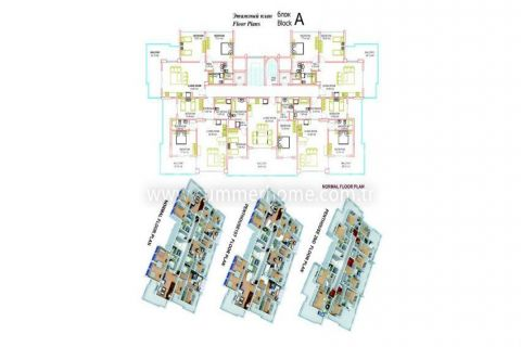 Large Apartments for Sale in Alanya - Property Plans - 16