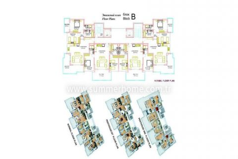 Large Apartments for Sale in Alanya - Property Plans - 19