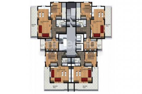 Cenovo prijateľné apartmány na predaj v Alanyi - Plány nehnuteľností - 14