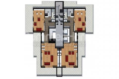 Cenovo prijateľné apartmány na predaj v Alanyi - Plány nehnuteľností - 15