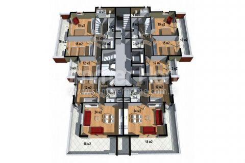 Cenovo prijateľné apartmány na predaj v Alanyi - Plány nehnuteľností - 17