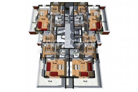Cenovo prijateľné apartmány na predaj v Alanyi - Plány nehnuteľností - 19
