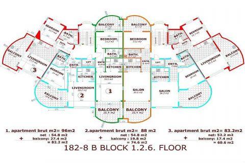 Utopia III - Orange Garden apartmány v Alanyi - Plány nehnuteľností - 34