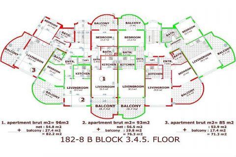 Utopia III - Orange Garden apartmány v Alanyi - Plány nehnuteľností - 35