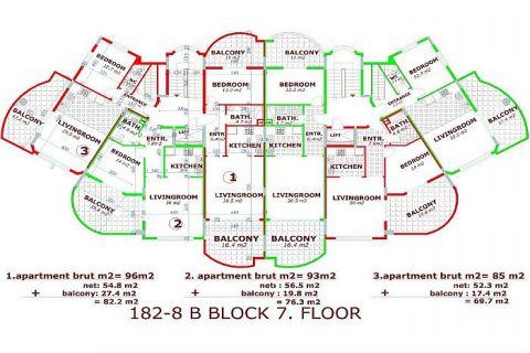 Utopia III - Orange Garden apartmány v Alanyi - Plány nehnuteľností - 36