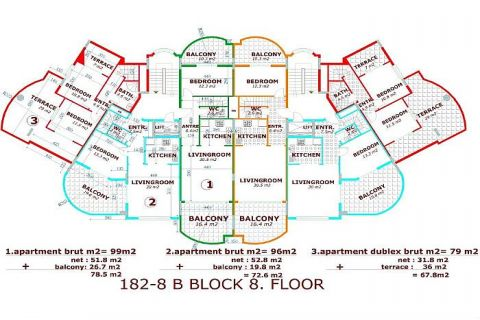 Utopia III - Orange Garden apartmány v Alanyi - Plány nehnuteľností - 37