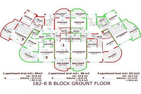 Utopia III - Orange Garden apartmány v Alanyi - Plány nehnuteľností - 38